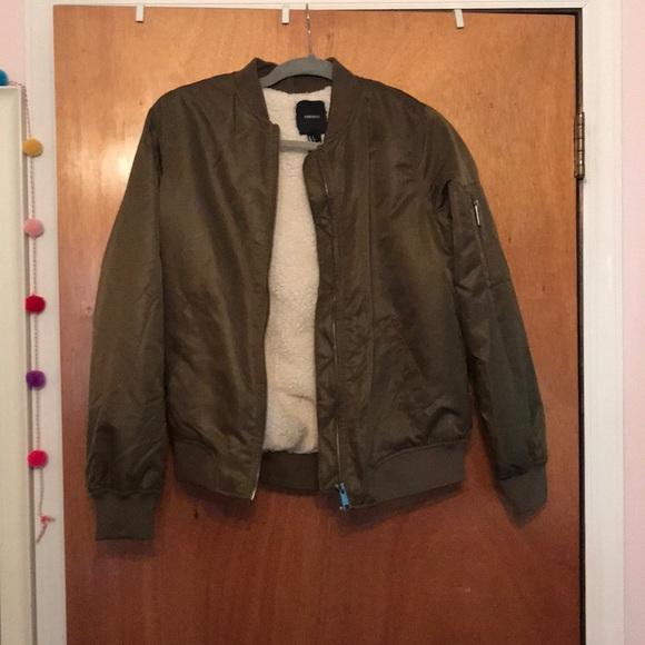 Forever 21 Jackets & Blazers - Fuzzy bomber jacket